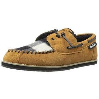 Woolrich Mens Austin Potter Wool Faux Fur Loafer Slippers - 9 medium (d)