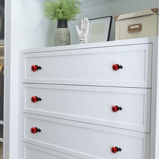 Ceramic Vintage Knobs Drawer Pull Handle Cupboard Wardrobe Cabinet 10pcs Red