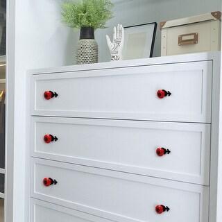 Ceramic Vintage Knobs Drawer Pull Handle Cupboard Wardrobe Cabinet 8pcs Red