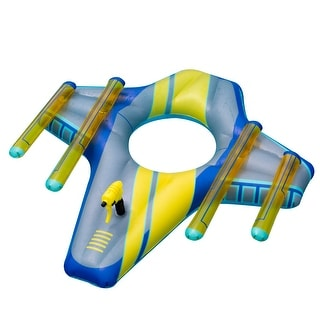 """Link to 46.5"""" Blue and Yellow Galactic Fighter Squirter Swimming Pool Float Similar Items in Water Sports Equipment"""