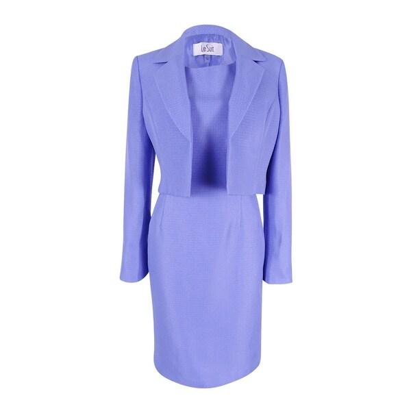 Shop Le Suit Women S Textured Jacket Sheath Dress On Sale Free