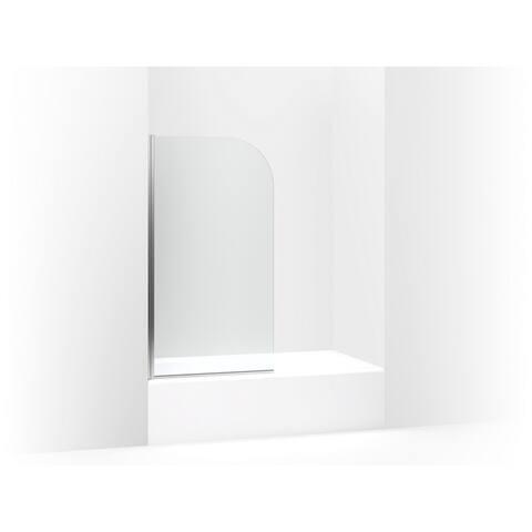 "Kohler Aerie? 32"" Curved Bath Screen Bright Polished Silver (K-707205-L-SHP)"