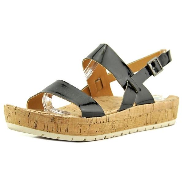 Korks Janine Women Open-Toe Synthetic Black Slingback Sandal