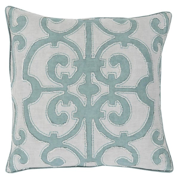 "20"" Princess Dreams In Shades of Cool Gray Decorative Throw Pillow"
