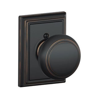 Schlage F170-AND-ADD Single Dummy Andover Door Knob with the Decorative Addison Rose (5 options available)