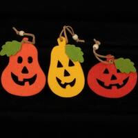 Club Pack of 54 Jack-O-Lantern & Leaf Fall Color Felt Ornaments - Multi