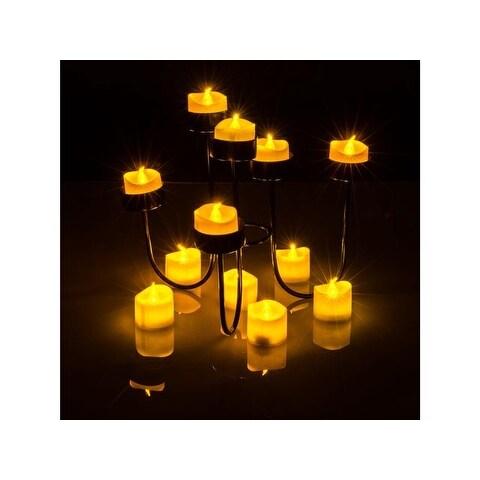 Tea Light Candles Yellow, AGPtek 6 PCS LED Flameless Battery Operated Tea light Tealight Candles with Batteries