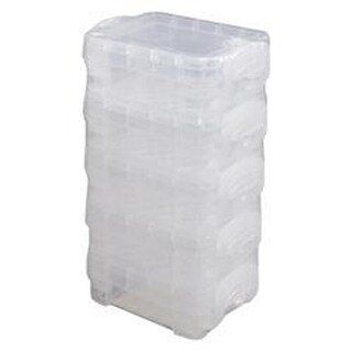 "1.4""X2.5""X3.4"" Clear - Storage Studios Super Stacker Bitty Boxes 5/Pkg"