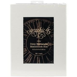 """Graphic 45 Staples Deep Matchbook Box-8.5""""X6.25""""X3"""""""