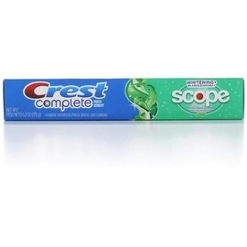 Crest Complete Multi-Benefit Fluoride Toothpaste, Whitening + Scope, Minty Fresh 6.2 oz