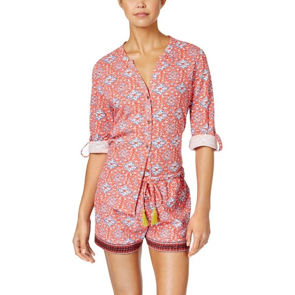 739fb3c057 Shop Lucky Brand Womens Pajama Set Printed 2PC - M - Free Shipping On  Orders Over  45 - Overstock.com - 19568878