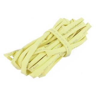 Yellow 6mm Dia 2:1 Polyolefin Heat Shrink Tubing Shrinkable Tube 5M 16.4Ft