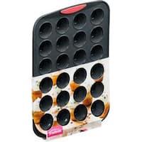 24 Cavity - Silicone Mini Muffin Pan Gray/Coral