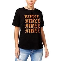 6013a599 Shop Bravado Womens Juniors Eminem Graphic T-Shirt Cropped Crew Neck ...