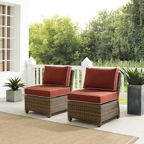 Bradenton 2Pc Outdoor Wicker Chair Set