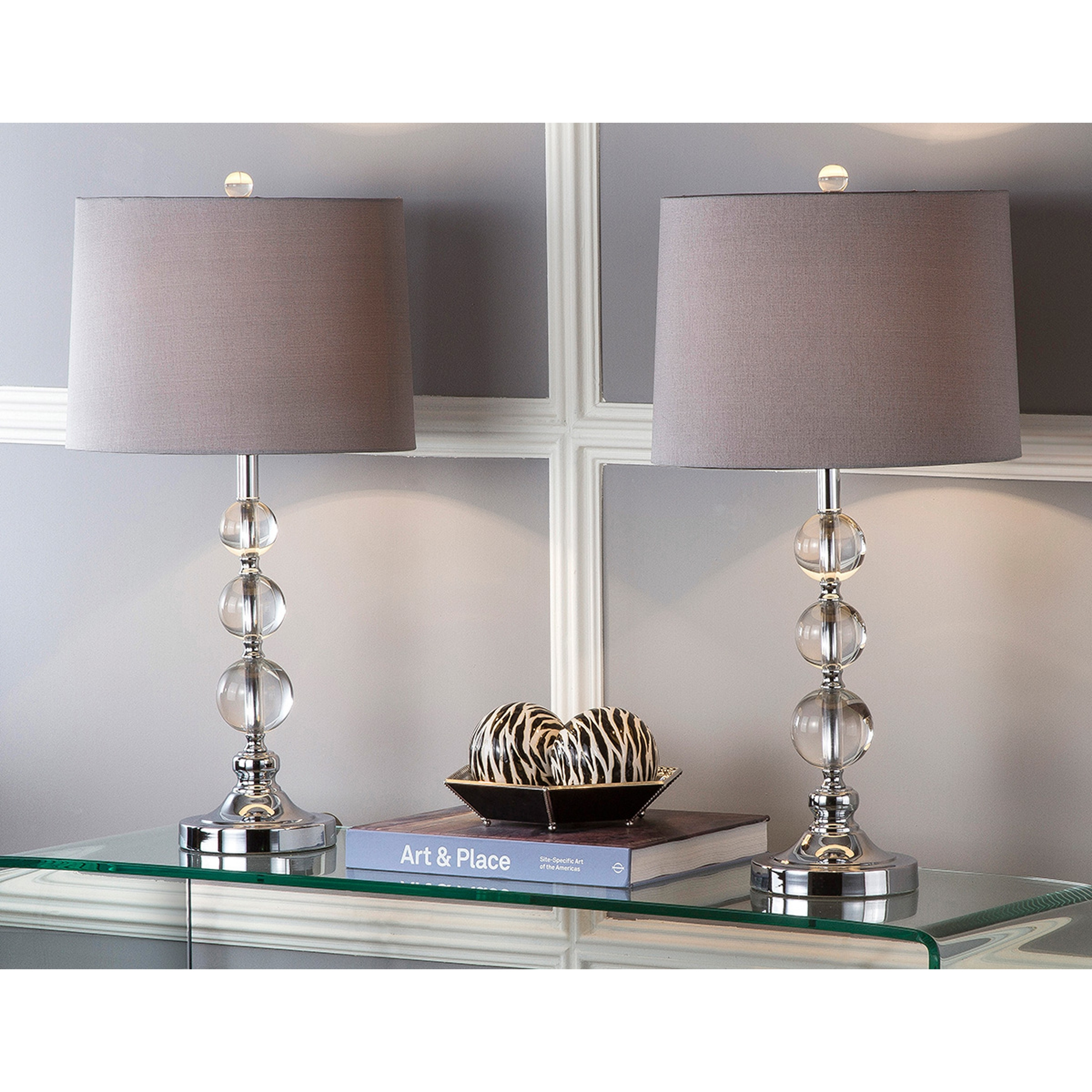 Safavieh Lighting 27 Inch Keeva Clear Crystal Table Lamp Set Of 2 N A Overstock 8353201