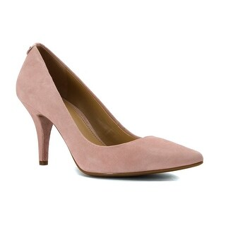 MICHAEL Michael Kors Womens Mid Flex Suede Pointed Toe Classic Pumps