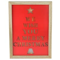 "11.75"" We Wish You a Merry Christmas LED Battery Operated Decorative Wall Decoration"