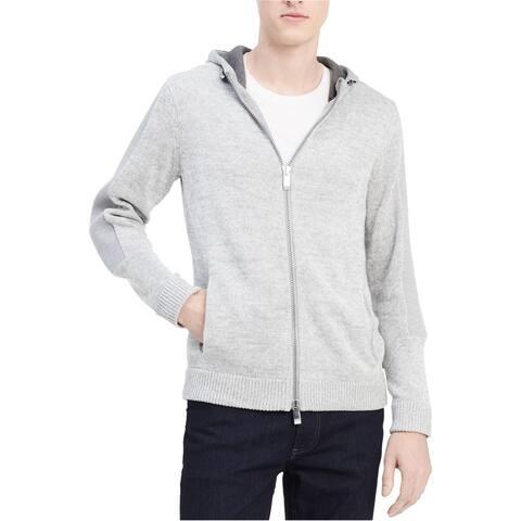 Calvin Klein Mens Colorblocked Full-Zip Hoodie Sweatshirt