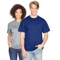 Hanes Beefy-T Adult Pocket T-Shirt - Size - XL - Color - Deep Royal