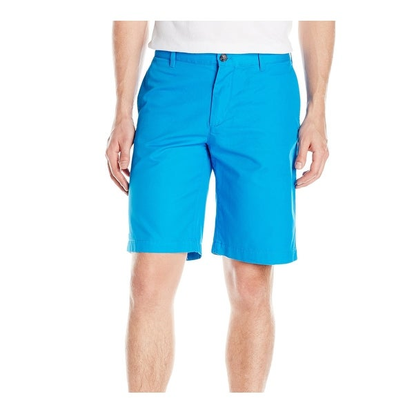 8974365a4 Shop Lacoste Blue Mens Size 34 Flat-Front Regular-Fit Casual Shorts - Free  Shipping Today - Overstock - 22512518