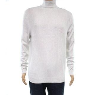 Alfani Gray Heather Mens Size Small S Textured Turtleneck Sweater