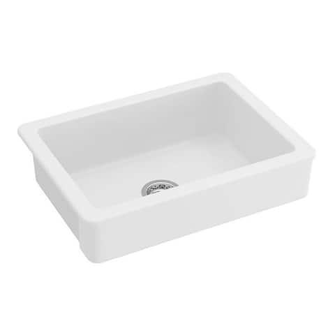 Farmhouse/Apron Front Ceramic Kitchen Sink White
