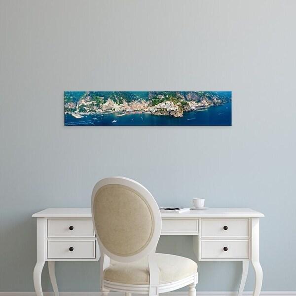 Easy Art Prints Panoramic Image 'View of towns, Amalfi, Atrani, Amalfi Coast, Salerno, Campania, Italy' Canvas Art