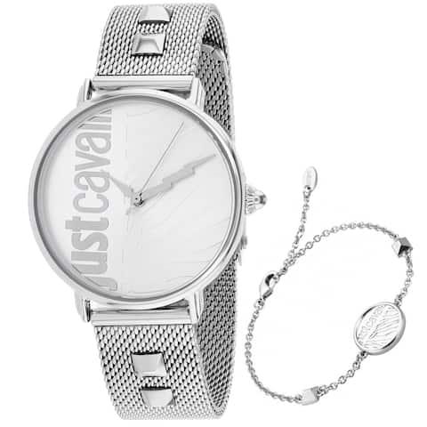 Just Cavalli Women's Zebra Silver Dial Watch - JC1L077M0055 - One Size