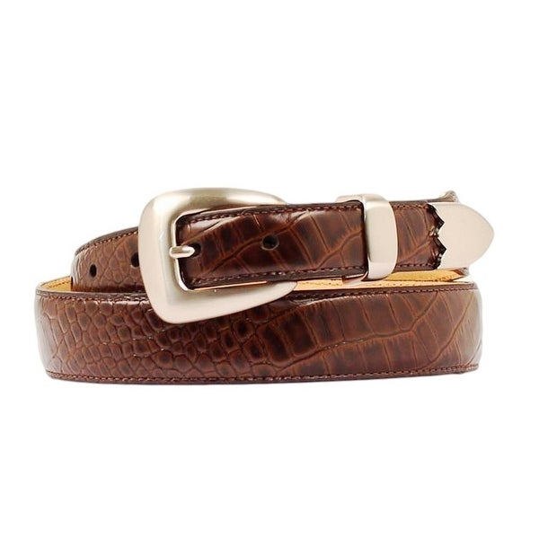 Nocona Western Belt Mens Leather Gator Tapered Espresso