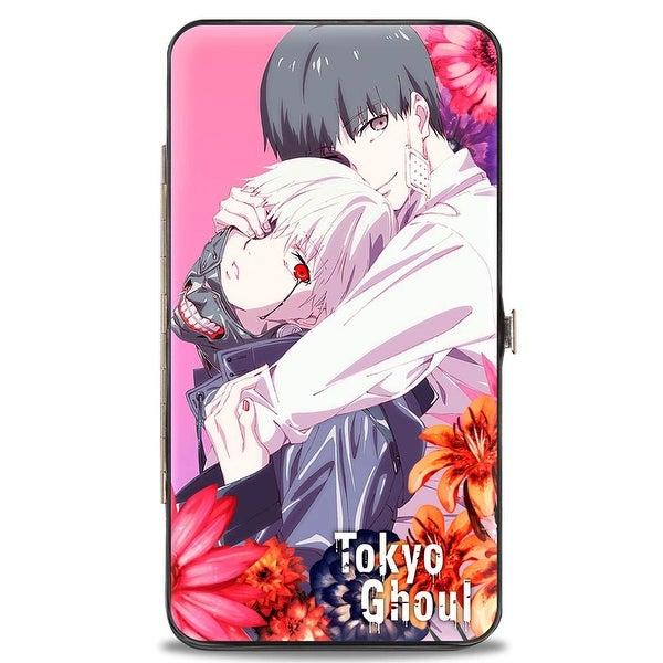 Tokyo Ghoul Ken Kaneki Hug Flowers Pinks Hinged Wallet - One Size Fits most