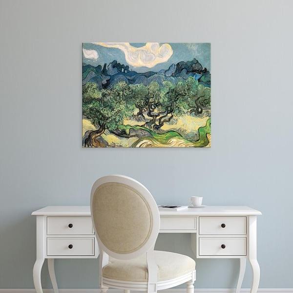 Easy Art Prints Vincent Van Gogh's 'The Olive Trees' Premium Canvas Art