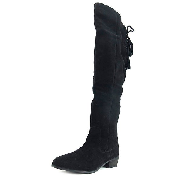Coolway Monica Women Pointed Toe Synthetic Black Over the Knee Boot