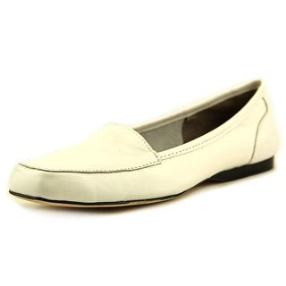 Array Freedom Square Toe Women N/S Square Toe Leather White Loafer