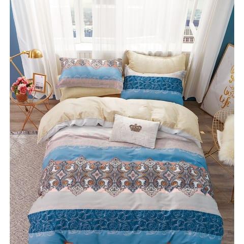 Hannah 100% Cotton Reversible Comforter Set