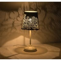 "Kanstar 15"" Hollowed-out Metal Butterfly Antique White Table Lamp"