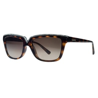 Valentino V646/SR 215 Dark Havana Rectangular Sunglasses - Dark Havana - 53-16-135