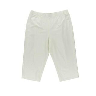 Eileen Fisher Womens Plus Pull On Slim Capri Pants