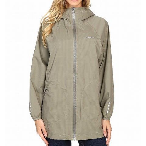 Merrell Green Womens Size XS Hooded Dolman-Sleeve WindbreakerJacket
