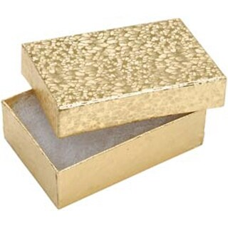 """Gold - Jewelry Boxes 3""""X2.125""""X1"""" 6/Pkg"""