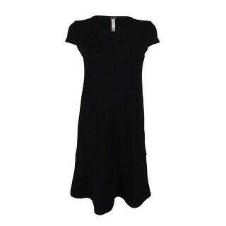 Kensie Women's Textured Cap Sleeve Dress - Black