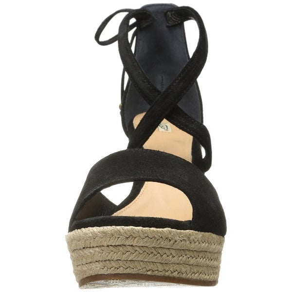 Ugg Womens Reagan Leather Open Toe Casual Ankle Strap Sandals - 10