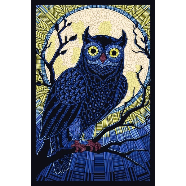 Owl - Paper Mosaic - LP Artwork (100% Cotton Towel Absorbent)