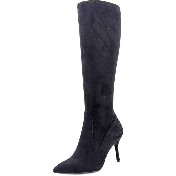 Nine West Calla Women Pointed Toe Synthetic Black Knee High Boot