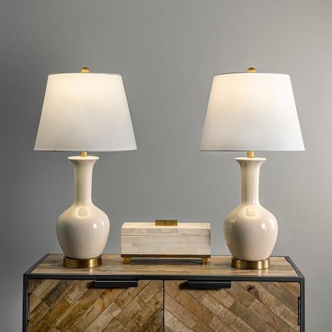 "nuLOOM Rockville 27"" Ceramic Table Lamp Set"