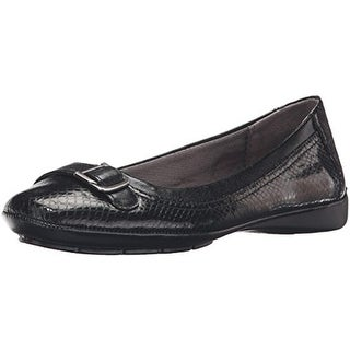 LifeStride Womens Venti Ballet Flats Buckle Slip On