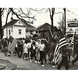 ''Selma to Montgomery Civil Rights March, Alabama, 1965'' by McMahan Photo Archive African American Art Print (8 x 10 in.)