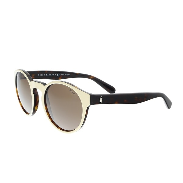 f461c012f97 Shop Ralph Lauren PH4101 556473 Cream Round Sunglasses - Free ...