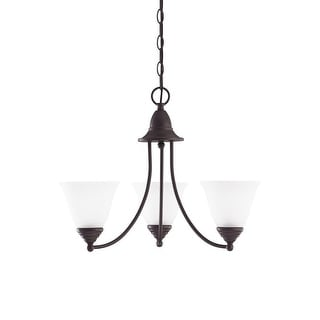 Sea Gull Lighting 31575-782 3-Light Chandelier Glass Heirloom Bronze Finish - bronze finish