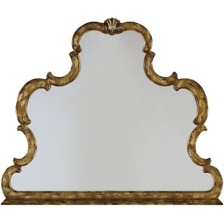 """Hooker Furniture 3016-90009  45-1/4"""" x 38-3/8"""" Specialty Framed Mirror from the Sanctuary Collection - Bling Distressed Gold"""